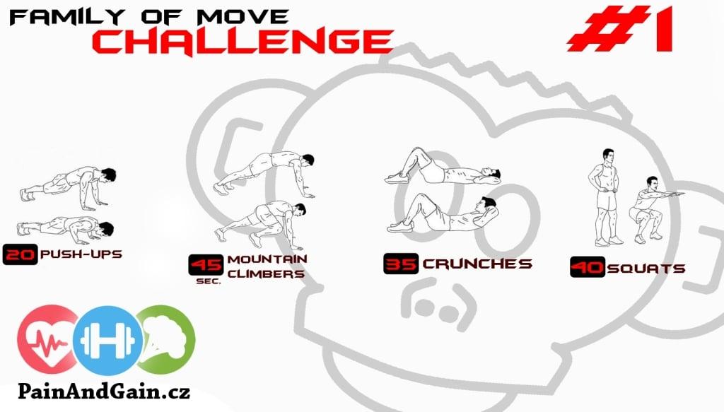 Posilovací výzva 1 - základní cviky