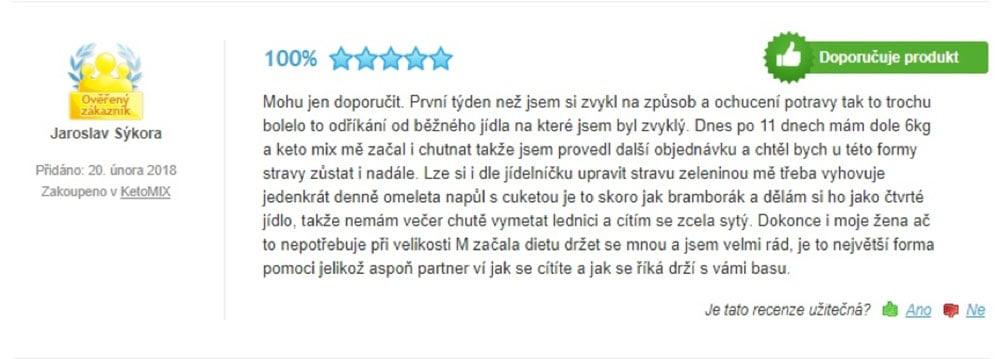 Pozitivní recenze na dietní program KetoMix.