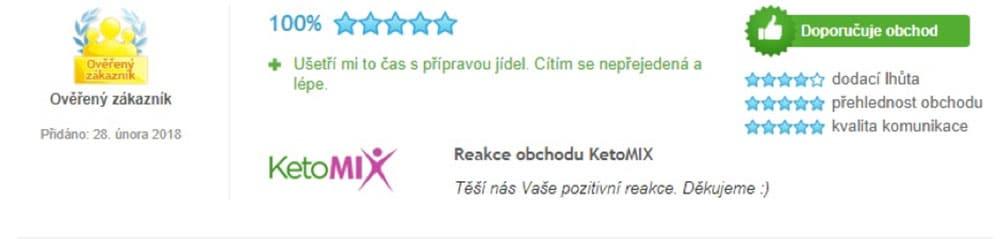 Recenze na dietu KetoMix: lidé si pochvalují rychlou přípravu jídel z produktů KetoMiXu.