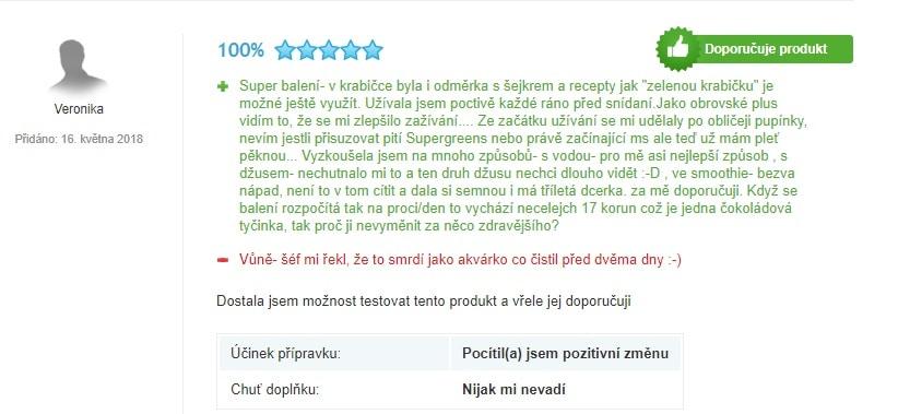 Recenze zákazníků na přípravek Blendea