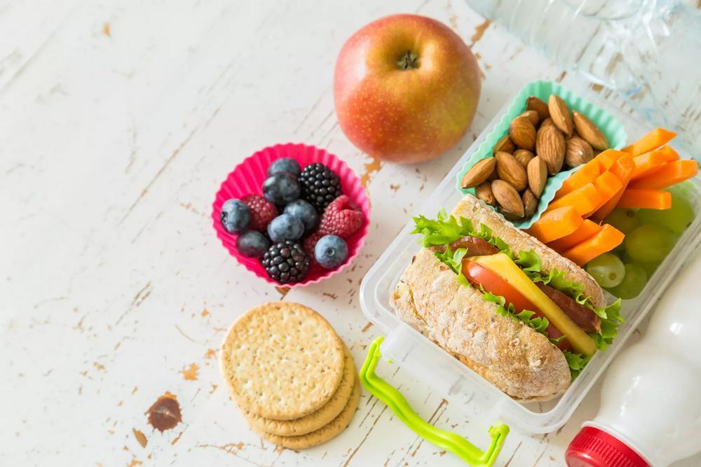 Ukázka, jak vypadá jídlo v rámci dělené stravy