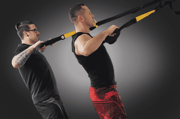 Jednoduché cviky na biceps doma s TRX systémem