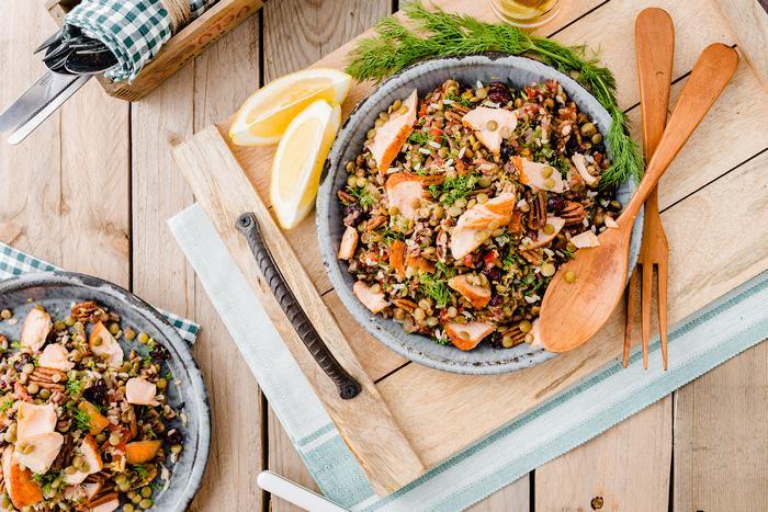 Hotový recept na lososa s divokou rýží