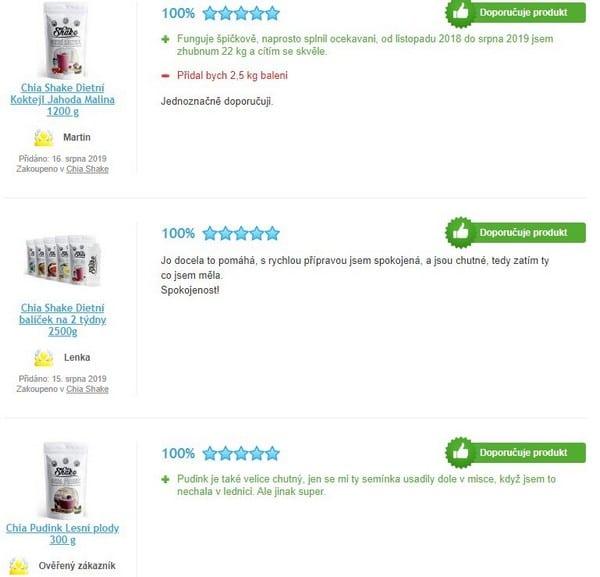 Chia Shake jsou podle recenzí nejlepšími koktejly na trhu.