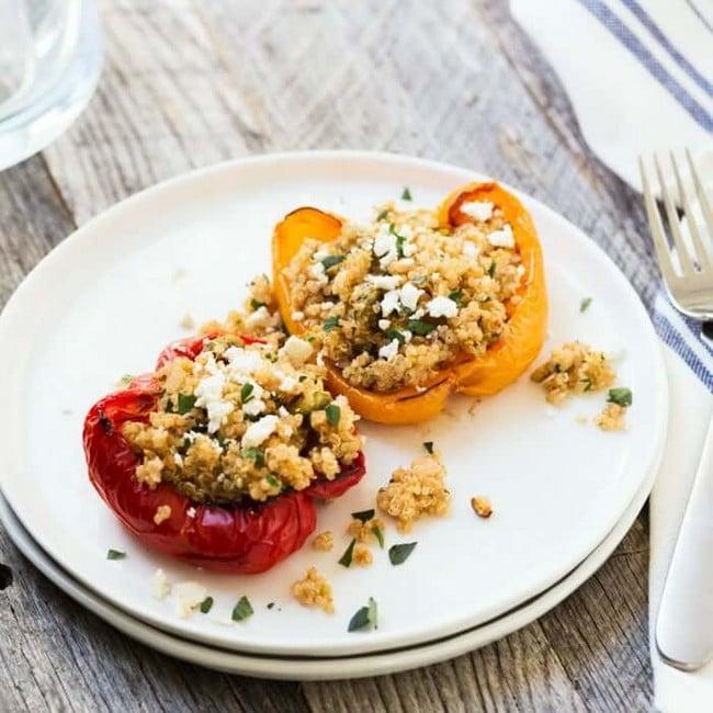 Recept na plněné papriky s quinoou