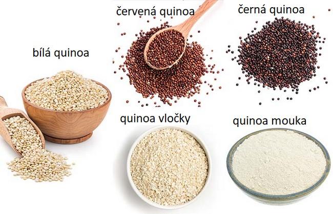 Ukázka, kolik druhů quinoi existuje