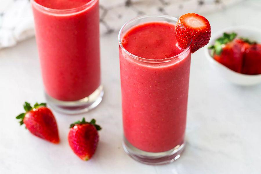 Recept na jahodové smoothie s džusem