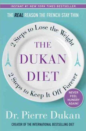 Bestseller o Dukanově dietě, napsaný Dr. Pierrem Dukanem. Zdroj: bookdepository.com.