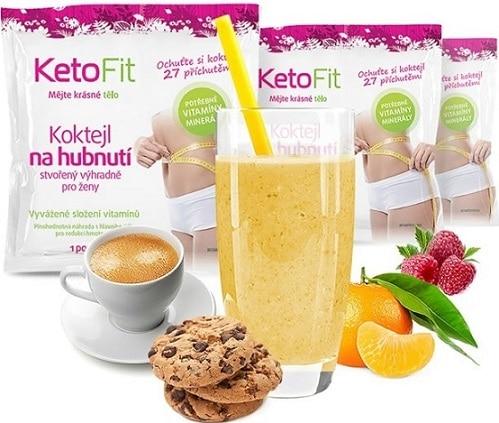 Keto fit je ketodieta na určitou dobu, obsahující předpřipravená proteinová jídla i koktejly.
