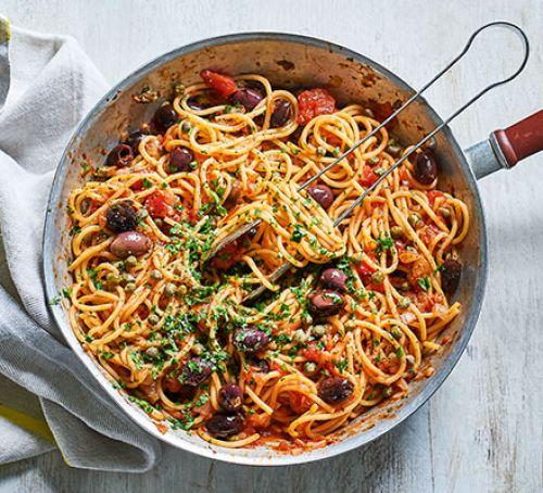 Výtečný recept na špagety puttanesca