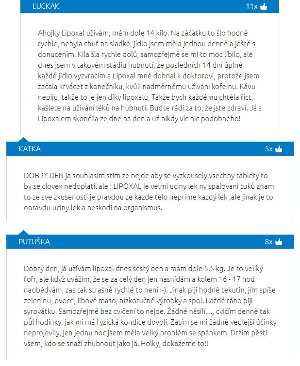 V recenzích je možné najít spoustu užitečných informací o užívání Lipoxalu Radical.