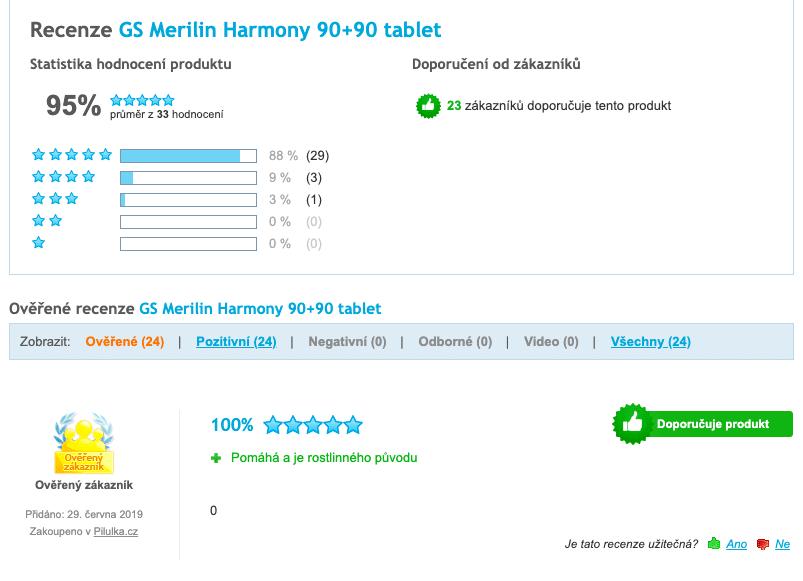 Osobní zkušenosti lidí s GS Merilin Harmony