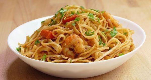 Exotický recept na čínské nudle s krevetami