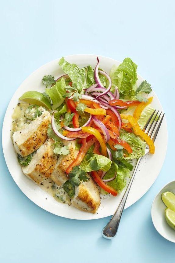 Dietní recept na kuřecí maso plněné nivou