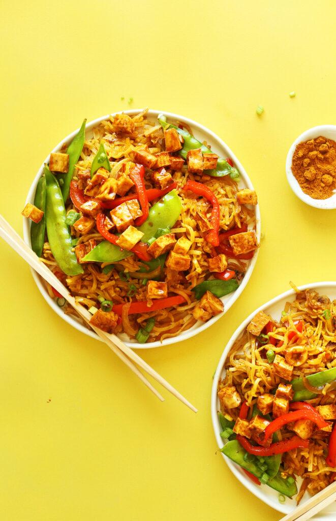 Skvělý recept na vegetariánské rýžové nudle