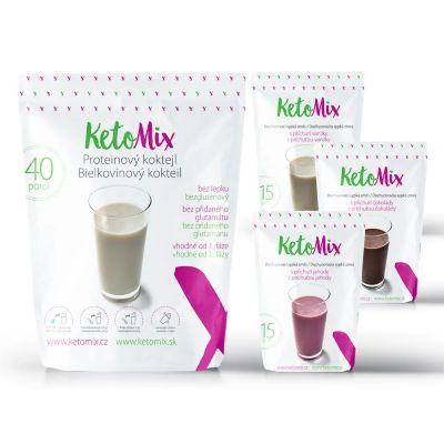 Chutné dietní koktejly na hubnutí Ketomix