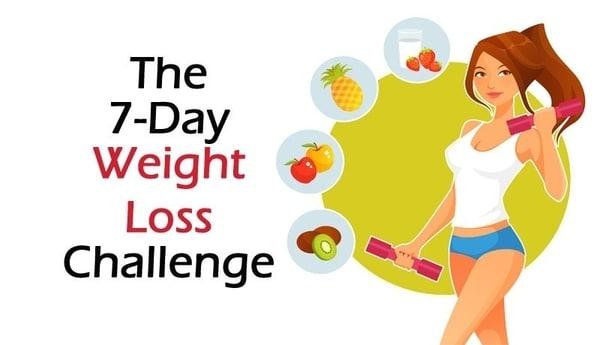 Motivační obrázek - sedmidenní posilovací výzva na hubnutí